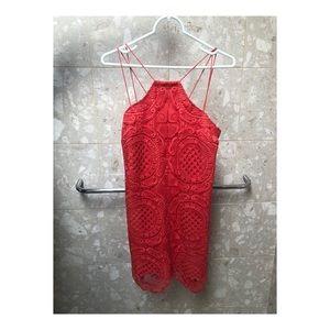 Revolve Coral Lace Dress